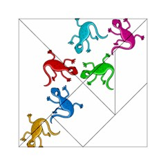 Colorful lizards Acrylic Tangram Puzzle (6  x 6 )