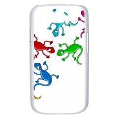 Colorful lizards Samsung Galaxy S III Case (White)