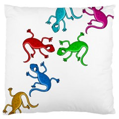 Colorful lizards Large Cushion Case (One Side)