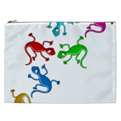 Colorful lizards Cosmetic Bag (XXL)