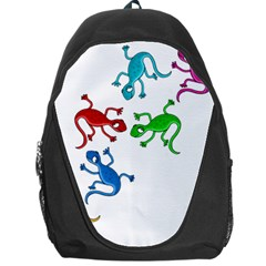 Colorful lizards Backpack Bag