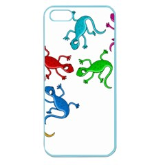 Colorful lizards Apple Seamless iPhone 5 Case (Color)