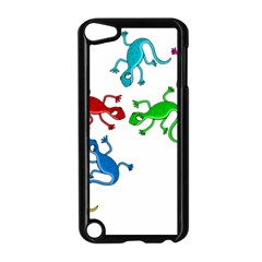 Colorful lizards Apple iPod Touch 5 Case (Black)