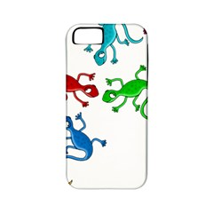 Colorful lizards Apple iPhone 5 Classic Hardshell Case (PC+Silicone)