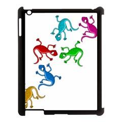 Colorful lizards Apple iPad 3/4 Case (Black)