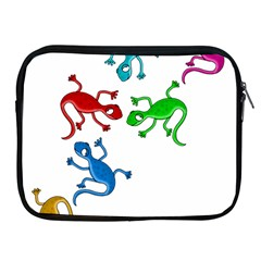 Colorful lizards Apple iPad 2/3/4 Zipper Cases