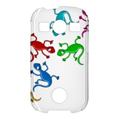 Colorful lizards Samsung Galaxy S7710 Xcover 2 Hardshell Case