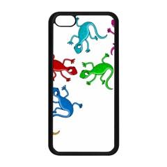 Colorful lizards Apple iPhone 5C Seamless Case (Black)