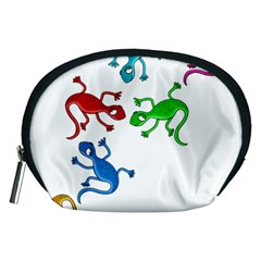 Colorful lizards Accessory Pouches (Medium)