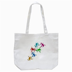 Colorful lizards Tote Bag (White)