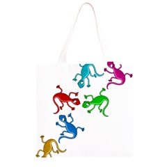 Colorful lizards Grocery Light Tote Bag