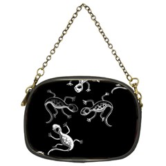 Black and white lizards Chain Purses (Two Sides)