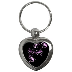 Purple lizards Key Chains (Heart)