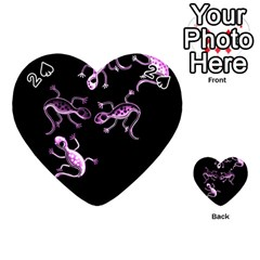 Purple lizards Playing Cards 54 (Heart)