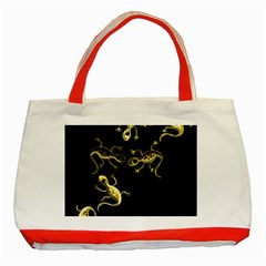 Yellow lizards Classic Tote Bag (Red)