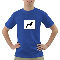 Doberman Pinscher Silo Black Dark T-Shirt