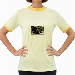 Rottweiler 2 Women s Fitted Ringer T-Shirts