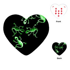 Green lizards Playing Cards (Heart)