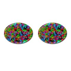 Lizard pattern Cufflinks (Oval)