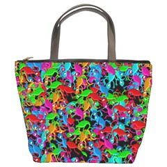 Lizard pattern Bucket Bags