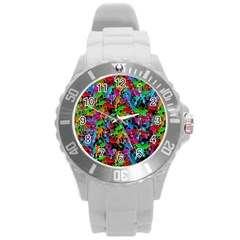 Lizard pattern Round Plastic Sport Watch (L)