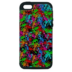 Lizard pattern Apple iPhone 5 Hardshell Case (PC+Silicone)