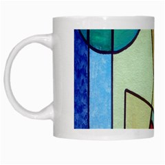 Abstract Art Face White Mugs