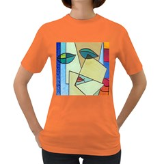Abstract Art Face Women s Dark T-Shirt
