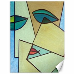 Abstract Art Face Canvas 36  x 48