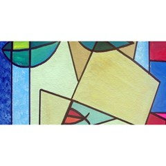Abstract Art Face YOU ARE INVITED 3D Greeting Card (8x4)