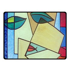 Abstract Art Face Double Sided Fleece Blanket (Small)