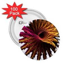 Abstract Fractal 2.25  Buttons (100 pack)