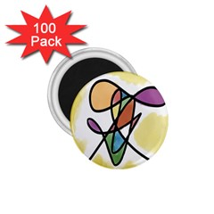 Art Abstract Exhibition Colours 1.75  Magnets (100 pack)