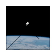 Astronaut Floating Above The Blue Planet Acrylic Tangram Puzzle (6  x 6 )