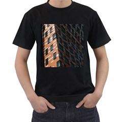 Building Architecture Skyscraper Men s T-Shirt (Black) (Two Sided)