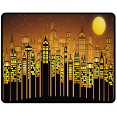 Buildings Skyscrapers City Fleece Blanket (Medium)