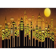 Buildings Skyscrapers City Birthday Cake 3D Greeting Card (7x5)