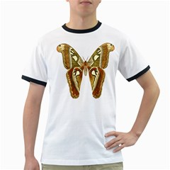 Butterfly Animal Insect  Ringer T-Shirts