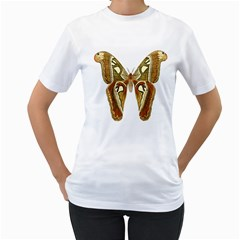 Butterfly Animal Insect  Women s T-Shirt (White)
