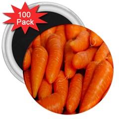 Carrots Vegetables Market 3  Magnets (100 pack)