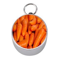 Carrots Vegetables Market Mini Silver Compasses