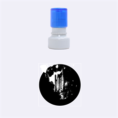 Castle Mystical Mood Moonlight  Rubber Round Stamps (Small)