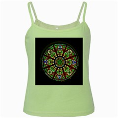 Church Window Window Rosette Green Spaghetti Tank