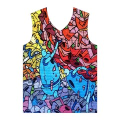 Colorful Graffiti Art Men s Basketball Tank Top