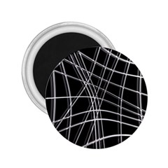 Black and white warped lines 2.25  Magnets