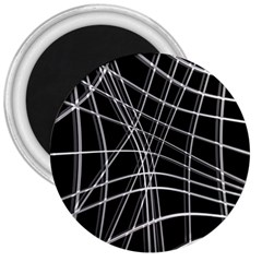 Black and white warped lines 3  Magnets
