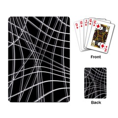 Black and white warped lines Playing Card