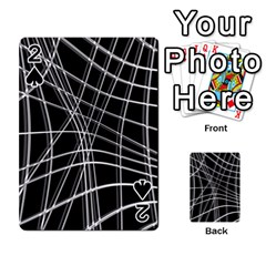 Black and white warped lines Playing Cards 54 Designs