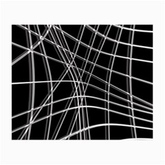 Black and white warped lines Small Glasses Cloth (2-Side)