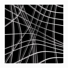 Black and white warped lines Medium Glasses Cloth (2-Side)